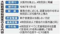大阪府市、都構想の協定書を総務省に提出