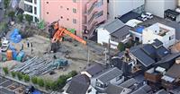 クレーン車事故で実況見分 旋回速度に問題か、大阪