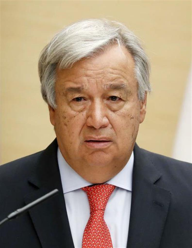 国連総長、広島式典欠席へ 中満事務次長がメッセージ代読