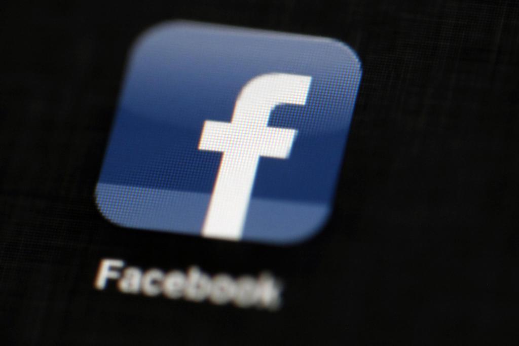 米フェイスブックのロゴ(AP)