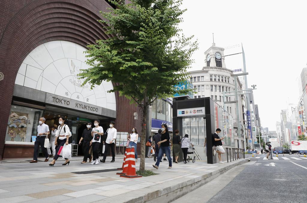 路線価が35年連続で全国1位となった東京・銀座の「鳩居堂」前