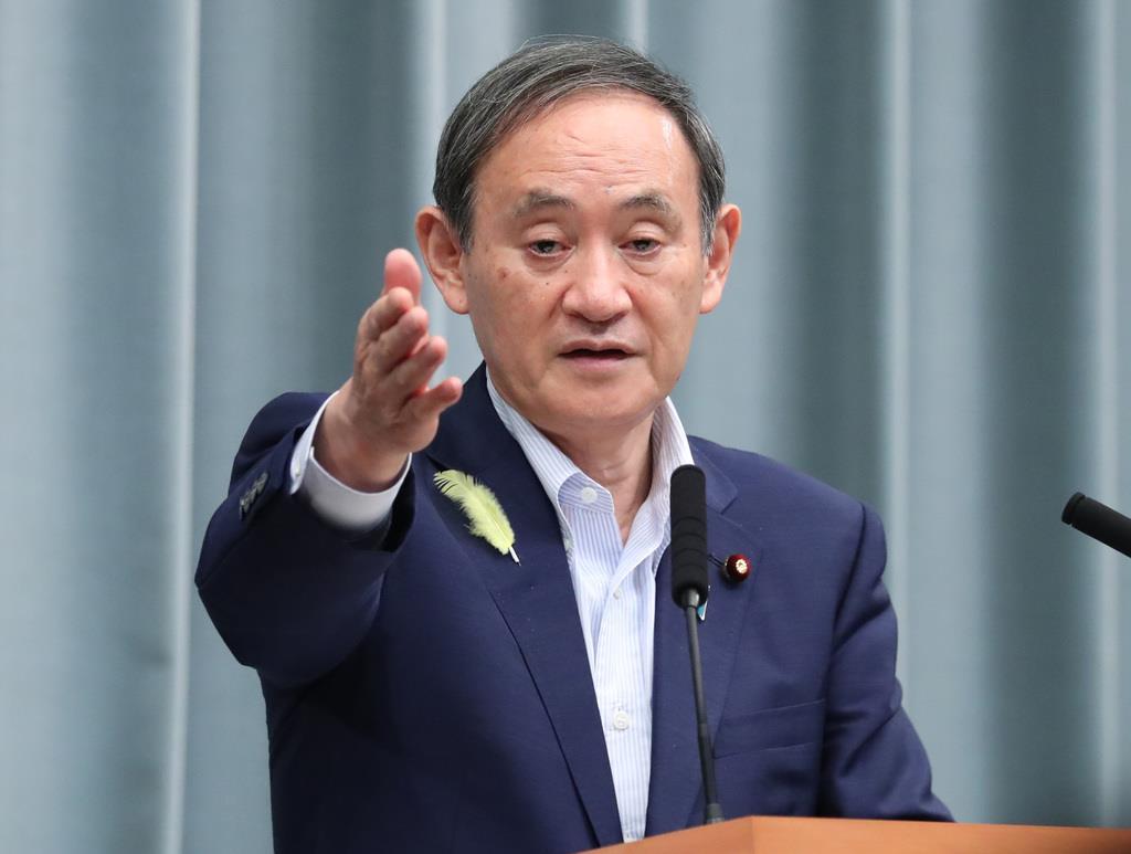 菅官房長官、沖縄県会議長選「コメント控えたい」