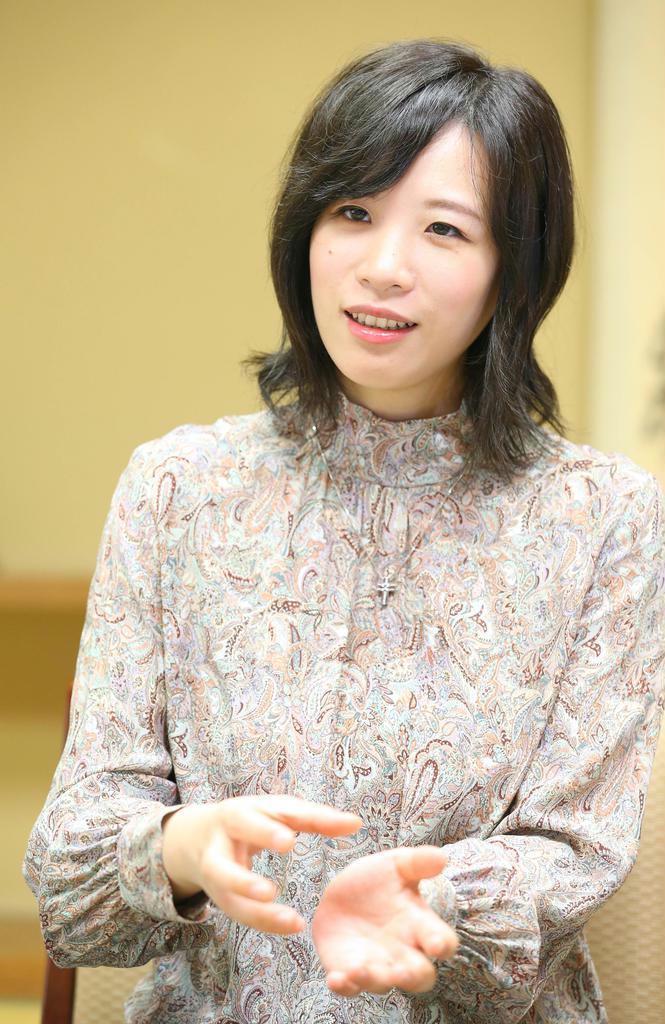 女流囲碁棋士・謝依旻さん(萩原悠久人撮影)