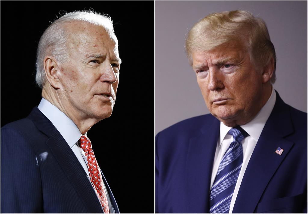バイデン前副大統領(左)とトランプ大統領(AP)
