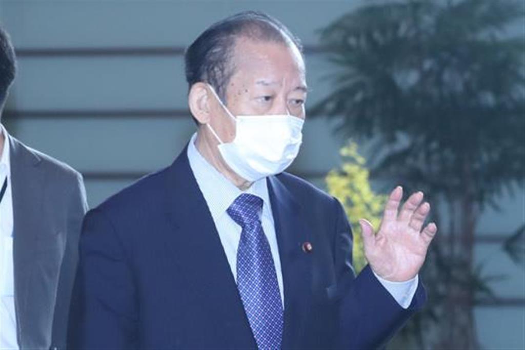 自民党・二階俊博幹事長=7日午前、首相官邸(春名中撮影)