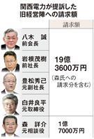 関電19億円訴訟、旧経営陣は払えるのか 切り札は賠償保険