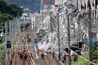 関西の鉄道、大雨影響で運転見合わせ相次ぐ