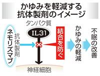 重度のアトピー性皮膚炎の新薬、有効性を確認 京都大など