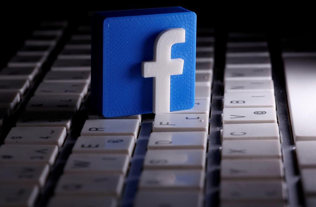 米フェイスブックのロゴ(ロイター)