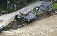 飛騨川沿いで基礎削られた一軒家の住民 いまも自宅に入れず「先のことは考えられない」