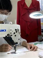 神戸の職人技、夏用マスクに 婦人服会社が開発