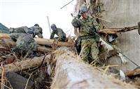 豪雨不明者を一斉捜索 熊本南部、1900人態勢