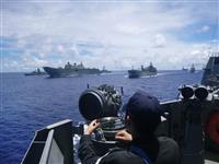 日米豪、西太平洋・南シナ海で共同訓練 中国を牽制