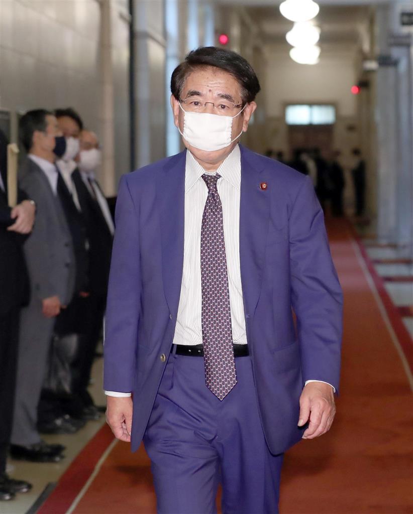 自民党・下村博文選対委員長(春名中撮影)