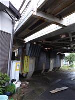 JR高架橋で21キロの鉄板落下 東大阪、けが人なし