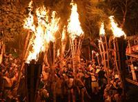 京都の「鞍馬の火祭」中止 コロナ感染拡大で