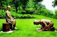 「慰安婦像に謝罪する安倍首相像」 韓国の植物園が設置
