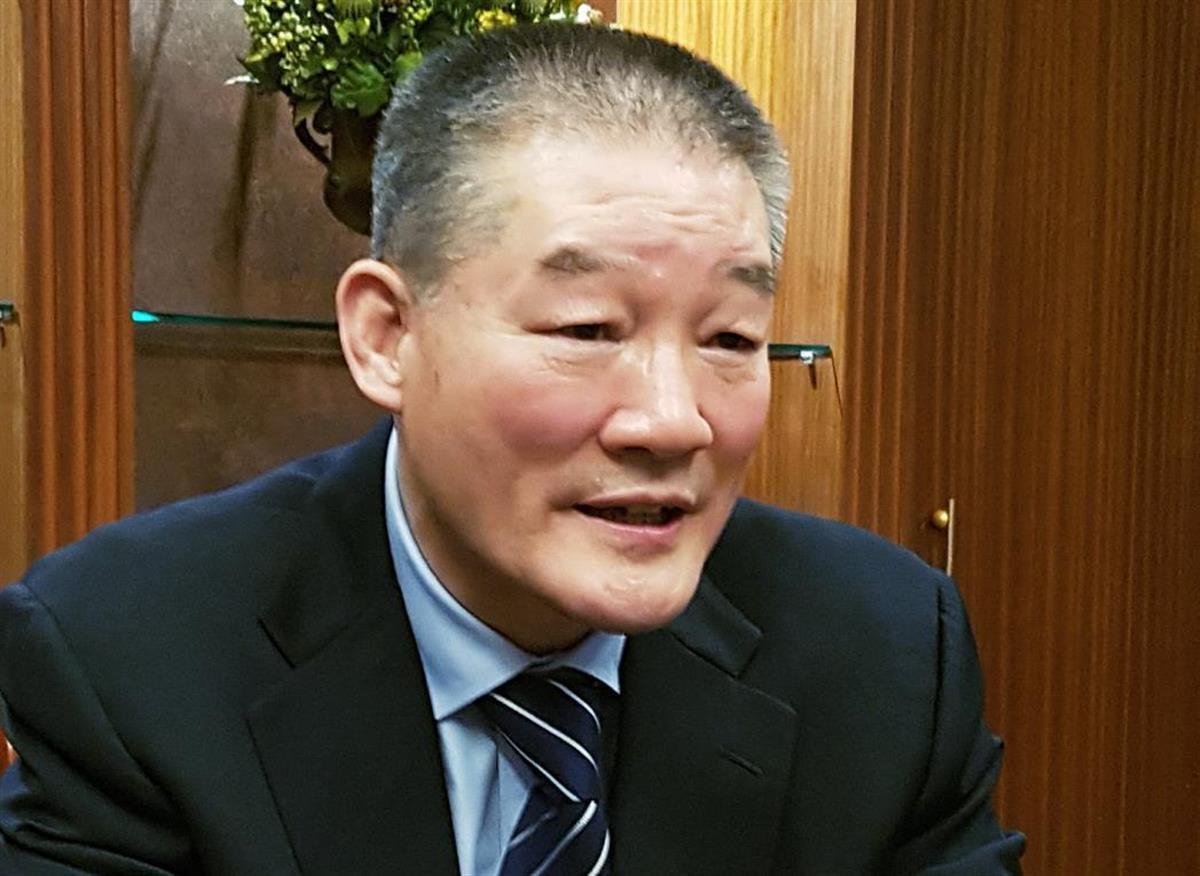 産経新聞のインタビューに応じるドンチョル・キム氏=1月、ソウル(桜井紀雄撮影)