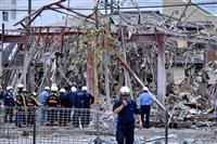 福島・郡山の爆発事故で1人死亡 内装工事で休業中、プロパンガス使用