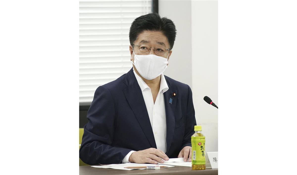 新型コロナウイルス感染症対策分科会で発言する加藤厚労相=31日午前、東京・霞が関