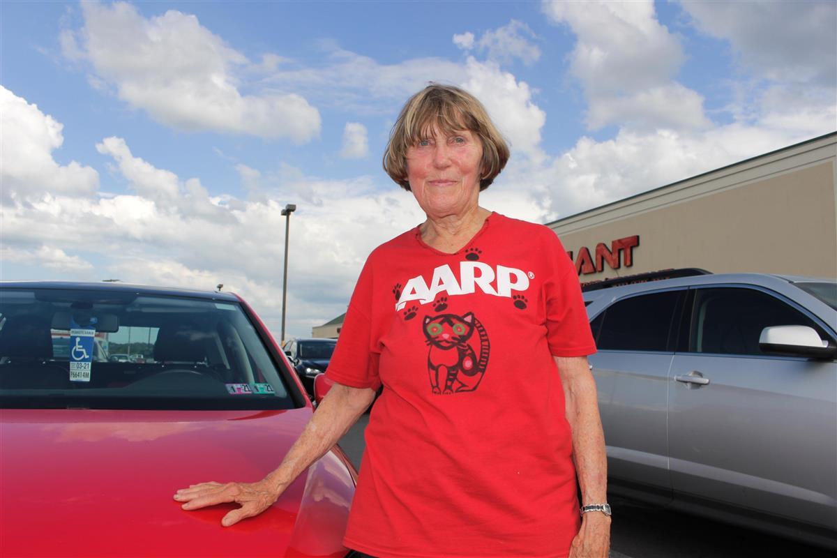 米東部ペンシルベニア州に住むバーバラ・スミスさんは4年前の大統領選でトランプ氏に投票したが、新型コロナウイルスをめぐる対応に失望し、同氏の支持者をやめた=7月28日(上塚真由撮影)