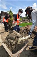 復旧人手足りぬ 豪雨ボランティア、コロナ禍で県内に限定