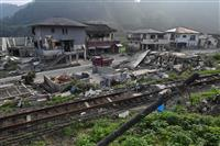 避難所生活、熊本1400人 豪雨1カ月、九州死者76人