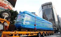 【動画】渋谷・ハチ公前の「青ガエル」引っ越し 観光案内の車両、秋田へ