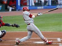 秋山は3打数1安打 積極打法で今季2本目の二塁打