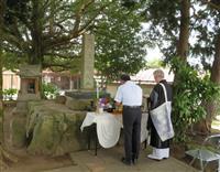 南北朝の古戦場で慰霊祭 小郡市の地元保存会が開催