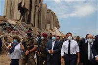 被災支援主導を表明 仏大統領、レバノン爆発で現地入り