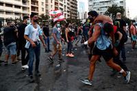 爆発抗議のデモ拡大1万人 レバノン、100人超負傷