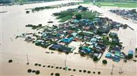 韓国豪雨、死者・不明40人超…異例の長い梅雨、文大統領は休暇返上