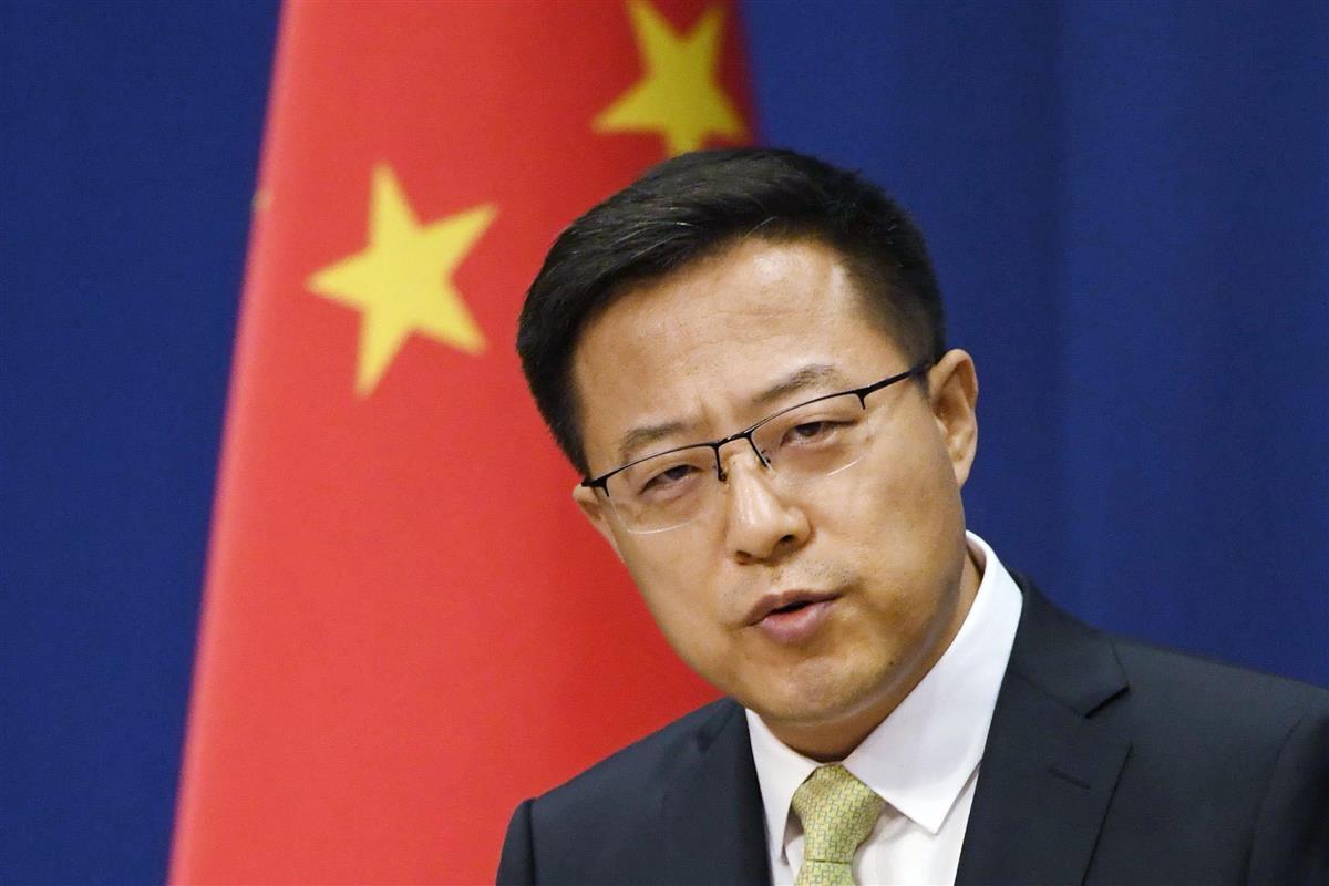 中国外務省の趙立堅報道官(共同)