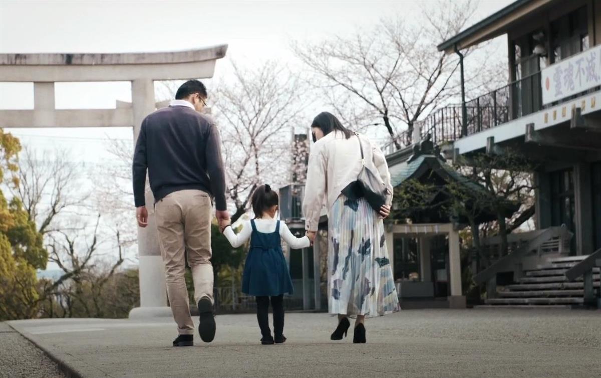 熊本県護国神社で撮影された短編映画の一場面(英霊顕彰プロジェクト提供)