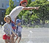 続く猛暑、局地的豪雨も 埼玉・越谷で1時間80・5ミリ
