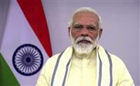 インド首相が中国けん制 独立記念日の演説で