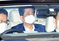 安倍首相、再び慶大病院入り 17日に続き