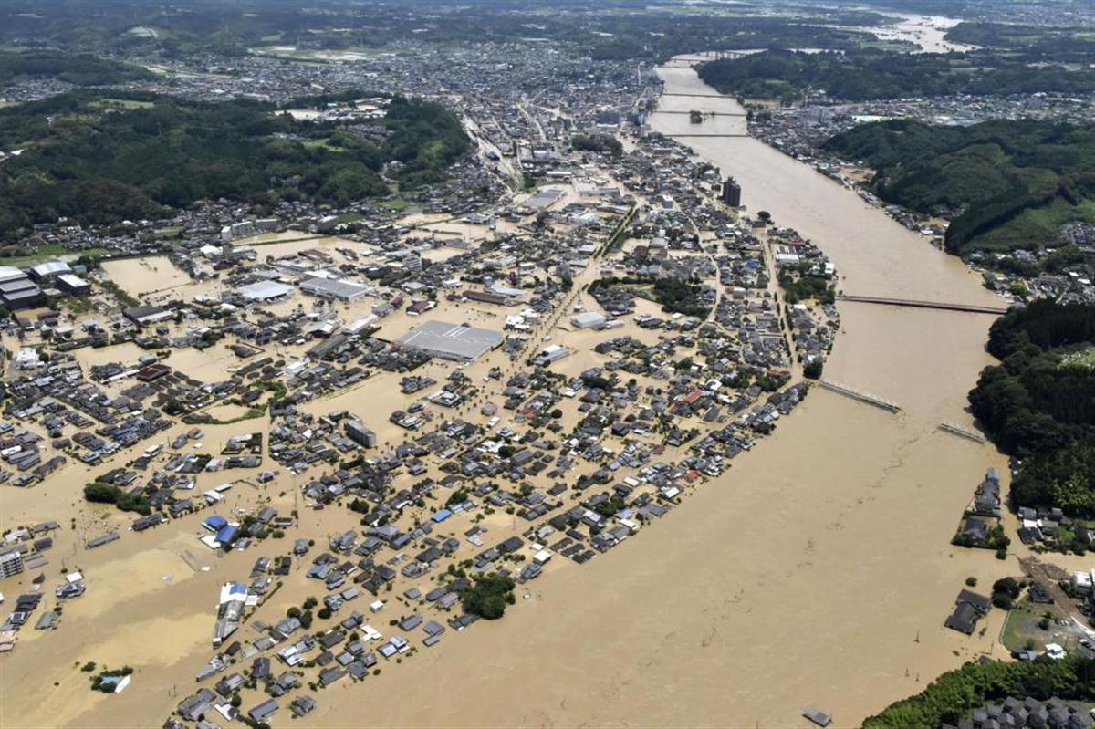 氾濫 熊本 球磨 川