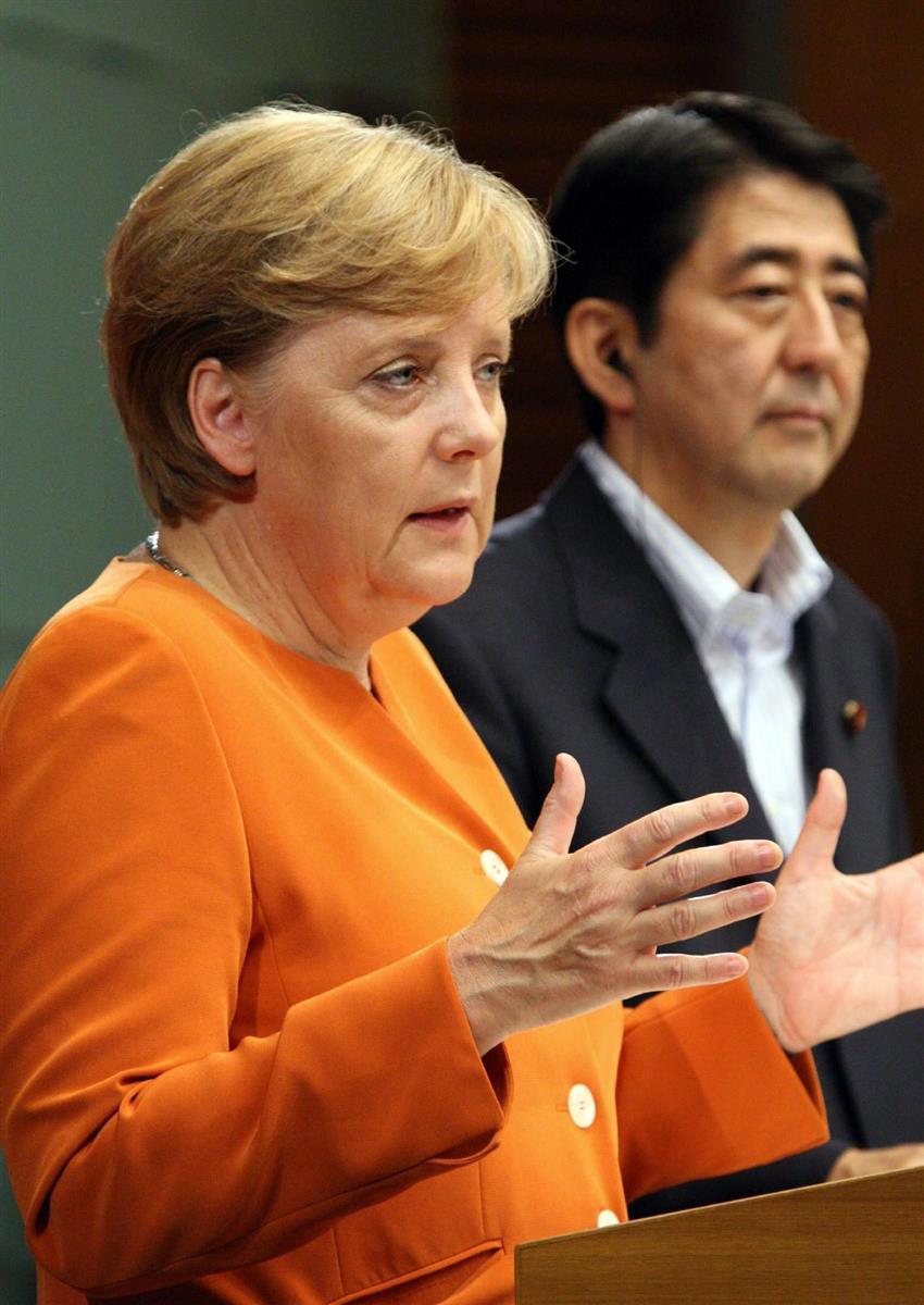 安倍首相辞任】ドイツのメルケル首相「残念」「常に共通の価値掲げた ...