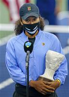 大坂、左脚負傷で決勝棄権 31日開幕の全米には出場