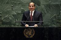 安倍首相の回復祈る エジプト大統領