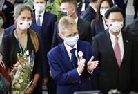 チェコ上院議長が台湾到着 90人の代表団、中国の反発必至