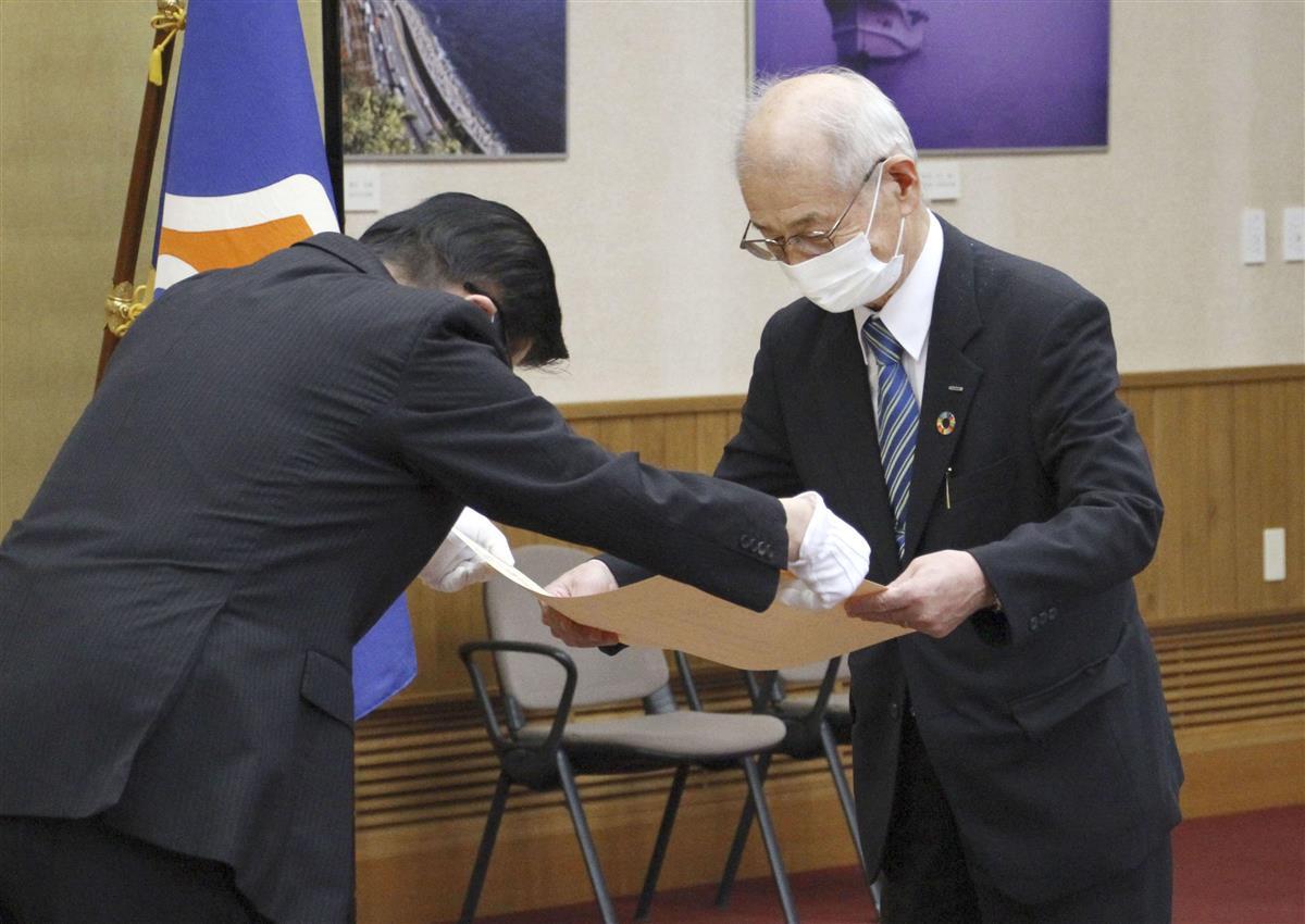「偉業は希望の星」 ノーベル賞の吉野彰氏に静岡県民栄誉賞