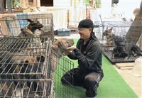 7月豪雨で人吉の訓練所被災 警察犬、我慢の仮住まい 復旧へ全国から支援