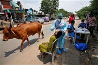 インド感染400万人超 新型コロナ、3カ国目
