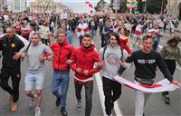 ベラルーシで4週連続大規模デモ 150人超拘束