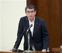 河野防衛相「解散恐らく10月、五輪へ準備」 新内閣発足後に