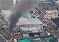 USJ近くの工場街で火災 1人軽傷