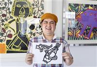 「自宅でアート、楽しんで」自閉症の画家・太田さんの作品配布 福岡